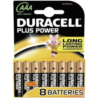 Duracell Plus Power-AAA (MN2400/LR03) 8er Blister