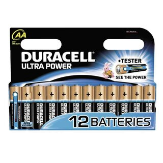 Duracell Ultra Power-AA (MN1500/LR6) 12er Blister mit Powercheck