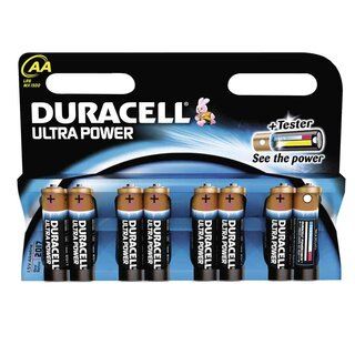 Duracell Ultra Power-AA (MN1500/LR6) 8er Blister mit Powercheck
