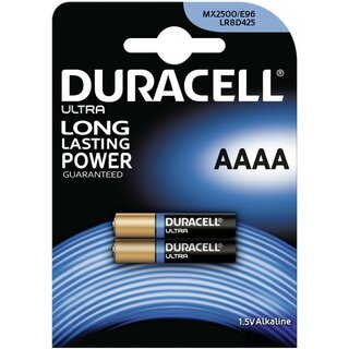 Duracell Ultra Power-AAAA (MN2500) 2er Blister