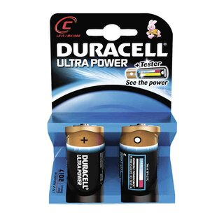 Duracell Ultra Power-C (MN1400/LR14) 2er Blister mit Powercheck